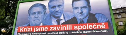 Falešné a prázdné předvolební billboardy