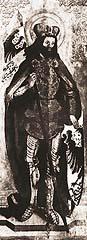 Mistr chudenického oltáře vyobrazil světce s vévodskou čapkou, s níž byl zobrazován od 14. století    - Repro z knihy Dějiny českého výtvarného umění
